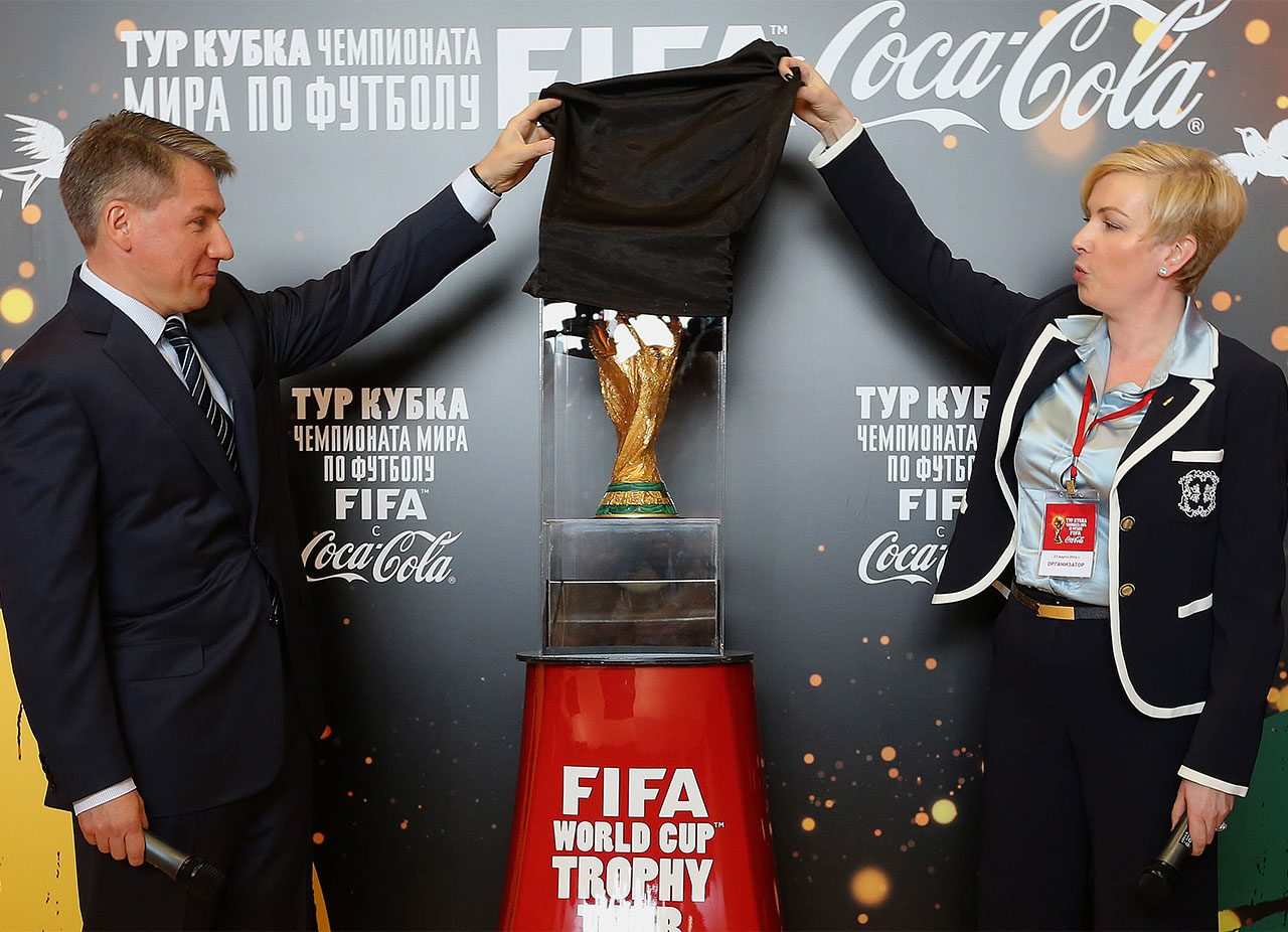 Aleksei Sorokin, CEO of Russia-2018 NOC, at a press conference on account of the arrival of the FIFA World Cup trophy in Moscow.