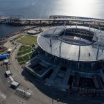 New Saint Petersburg Stadium in Krestovsky Island