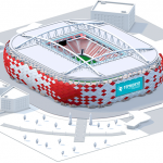 Model of Spartak Stadium