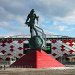 Sculpture of the Gladiator in Front of Spartak Stadium