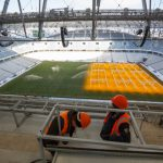 Field of Volgograd Stadium is Prepared for WC 2018