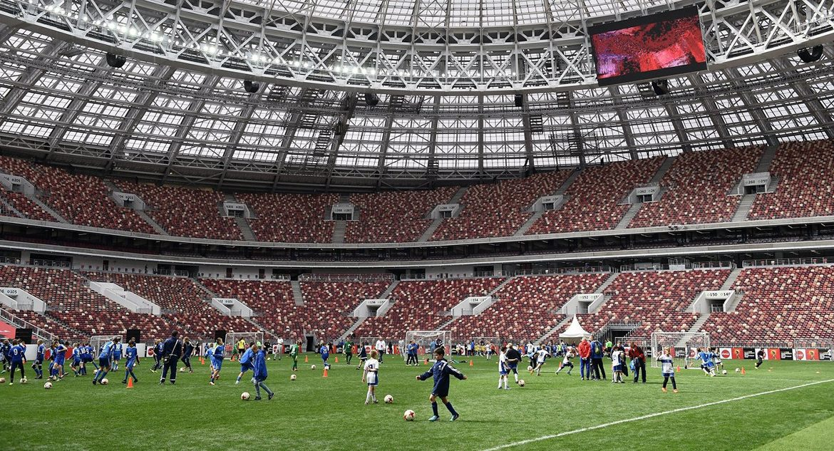 The First Match in Luzhniki Stadium