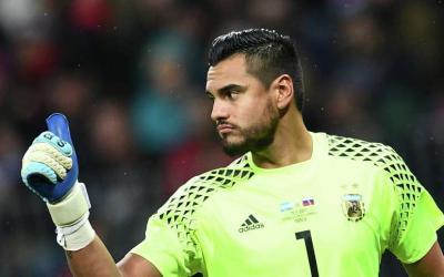 Argentina goalkeeper Sergio Romero