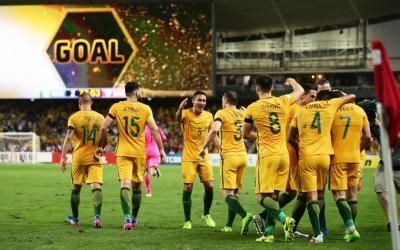 Australia in the group stage of the 2018 World Cup