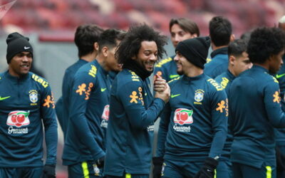 Brazil national football team training