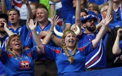 Fan of the national team of Iceland