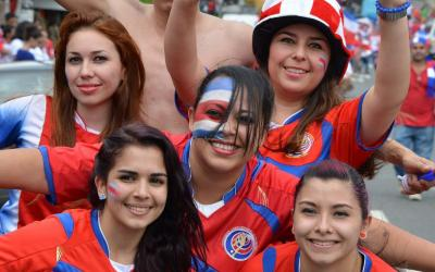 Fans from Costa Rica