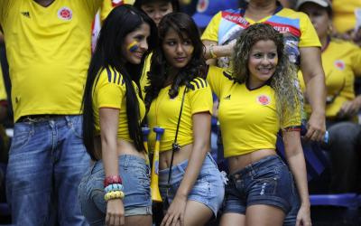 Fans of the Colombian national team