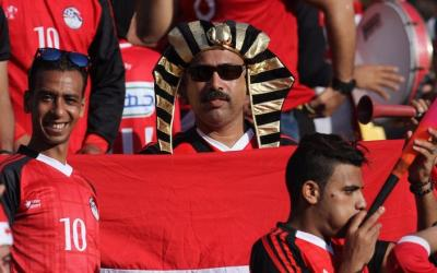 Fans of the national team of Egypt