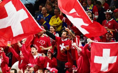 Fans of the national team of Switzerland