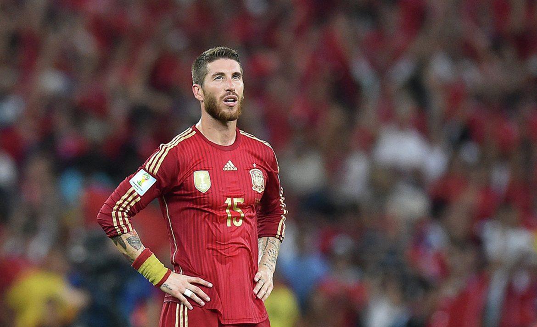 Football player of the Spanish team Sergio Ramos