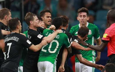 Football players of teams of Mexico and New Zealand had a fight at a match in Sochi
