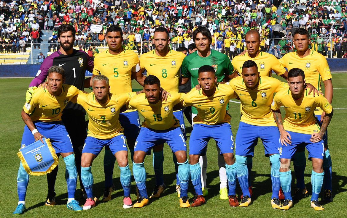 Football players of the Olympic team of Brazil