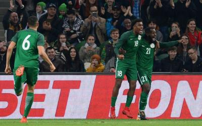 Players of the team of Nigeria