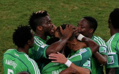 Football players of the team of Nigeria