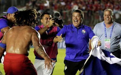 Head coach of the Panama national football team Dario Gomes