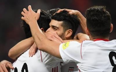 Irans national football team defeated the Venezuelan team in a friendly match