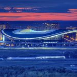 Arena Against the Background of Kazan at the Night