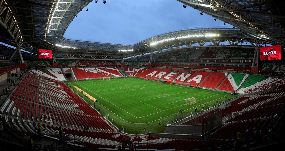 Kazan Arena - Tribunes and Field