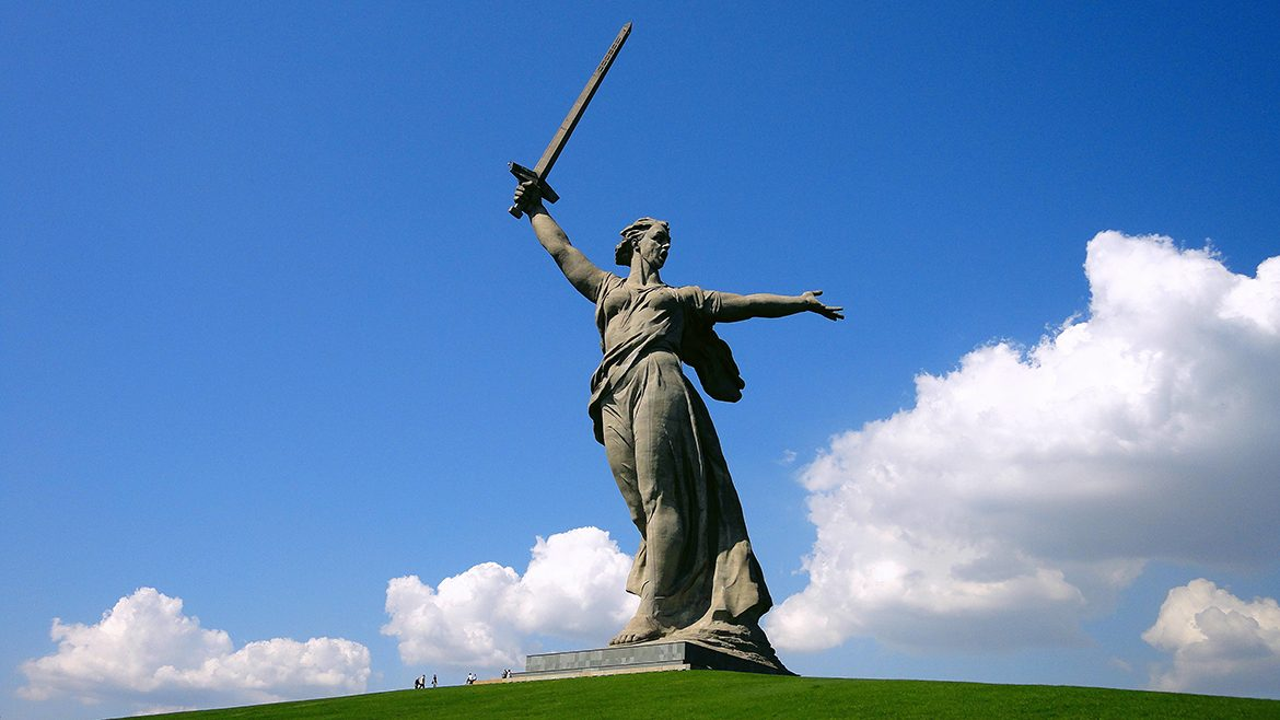 Mamayev Kurgan and sculpture Motherland Calls