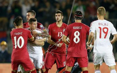 Match between Serbia and Albania