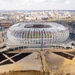 Preparation of Mordovia Arena Facade