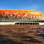View of Mordovia Arena from the River