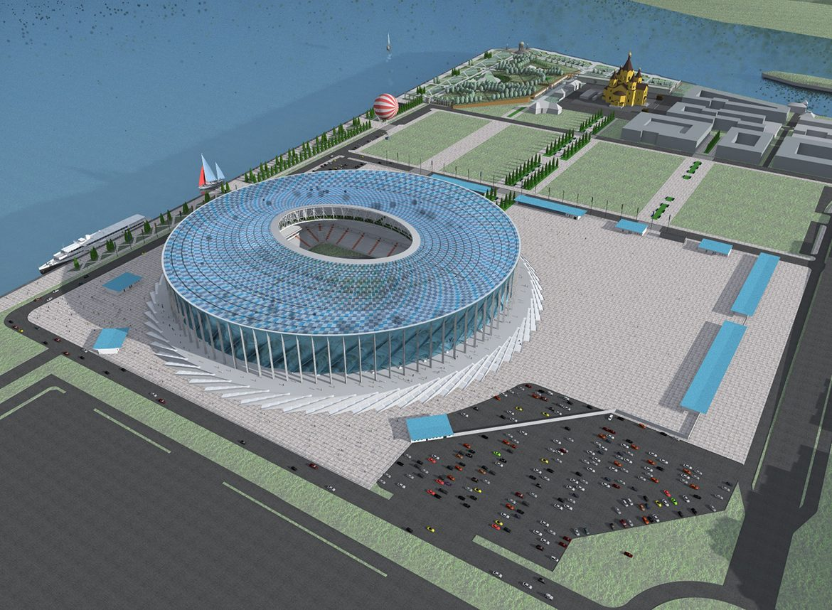 Visualization of Nizhny Novgorod Stadium