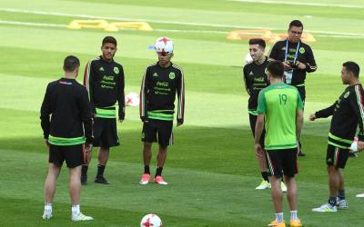 Open training for the Mexico national football team