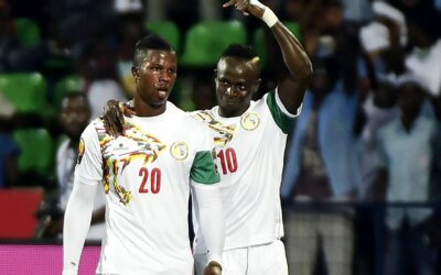 Players of the Senegal national team Balde Keita and Sadjo Manet