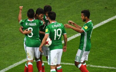 Soccer players of the national team of Mexico