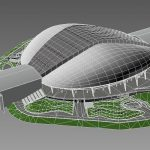 3D Model of Fisht Stadium