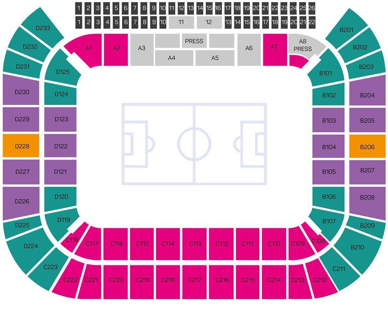 Spartak Stadium - Navigation