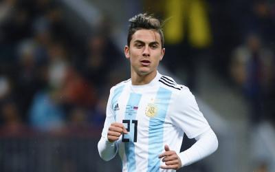 Striker of Argentinas Paulo Dibala