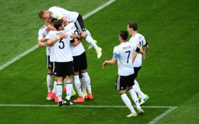 Team Germany defeated football players from Australia