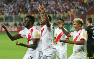 Team Peru in football defeated the team of New Zealand and went to the 2018-World Cup in Russia