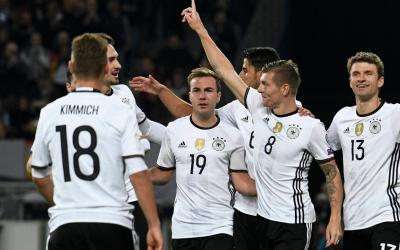 The German national football team defeated the Czech team in the qualification match of the 2018 World Cup