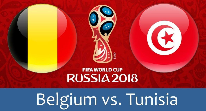 Belgium - Tunisia 23 jun 2018