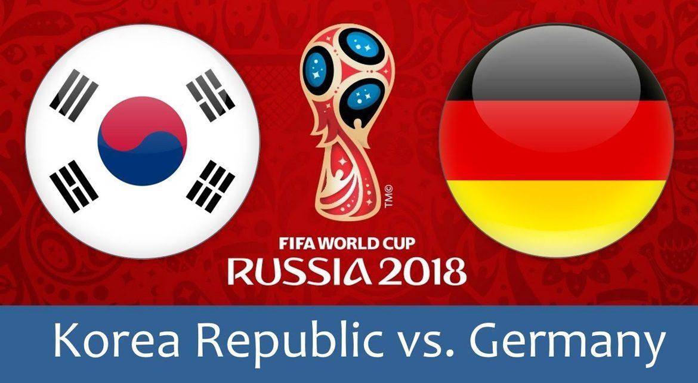 Korea Republic - Germany 27 jun 2018