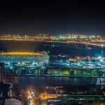 Arena Against the Background of Rostov at the Night